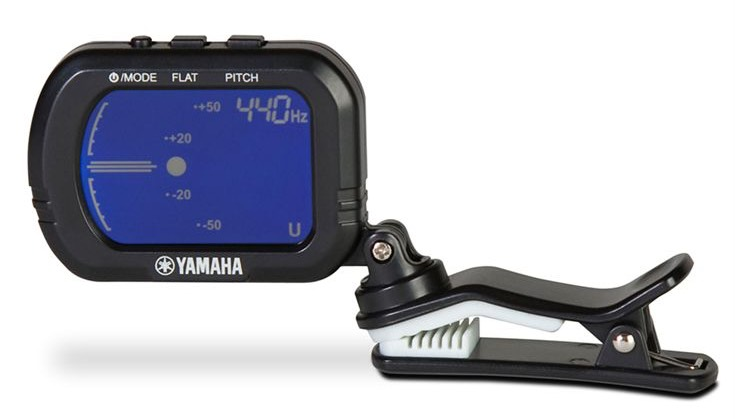 Clip-on tuner with digital screen.