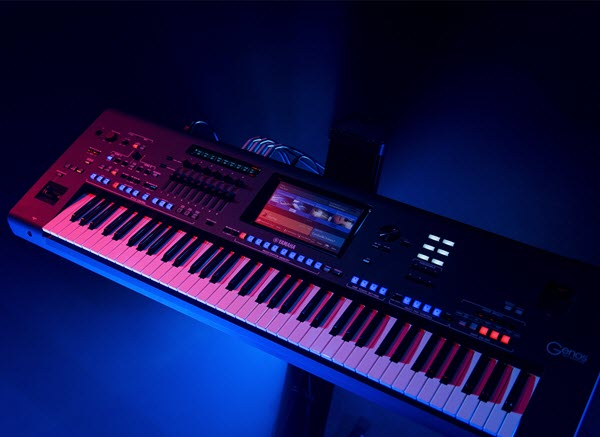 View of top of electronic keyboard.