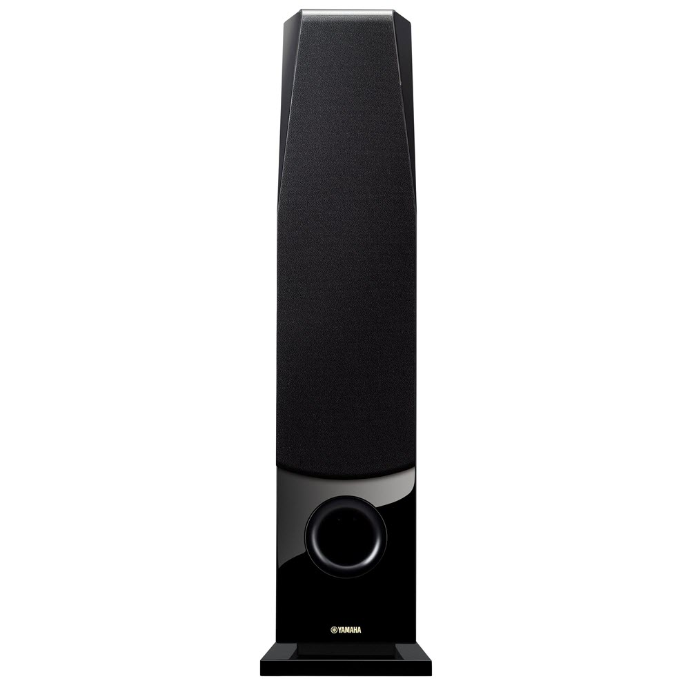 Tall slim rectangular speaker.
