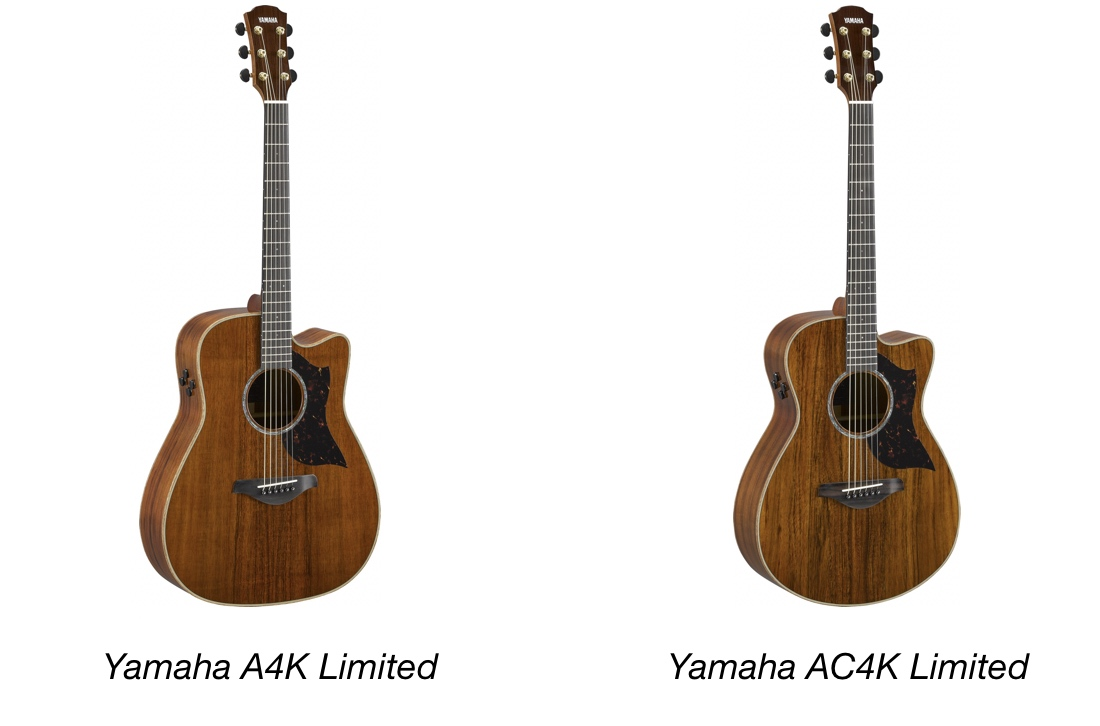 Two acoustic guitars.