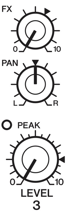 Diagram showing settings.
