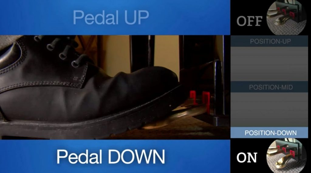 Image of a pedal going down