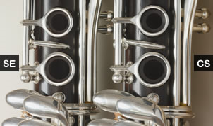 Clarinet CS and SE keys closeup.