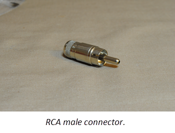 RCA male connector.