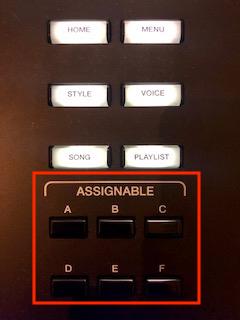 Close-up of controls.