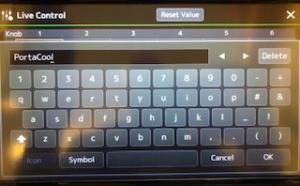 Screenshot of onscreen keyboard.