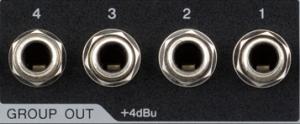 Close-up of jack outlets.