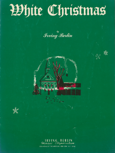 Cover displays a drawing of a winter scene including a church, bare trees and snowflakes, as well as the title of the song and that it is by Irving Berlin.