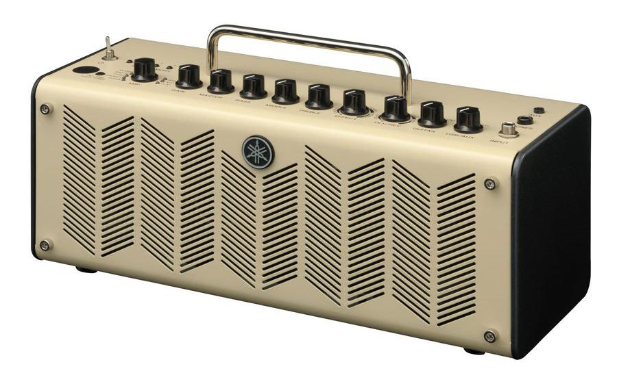 Small portable guitar amplifier.