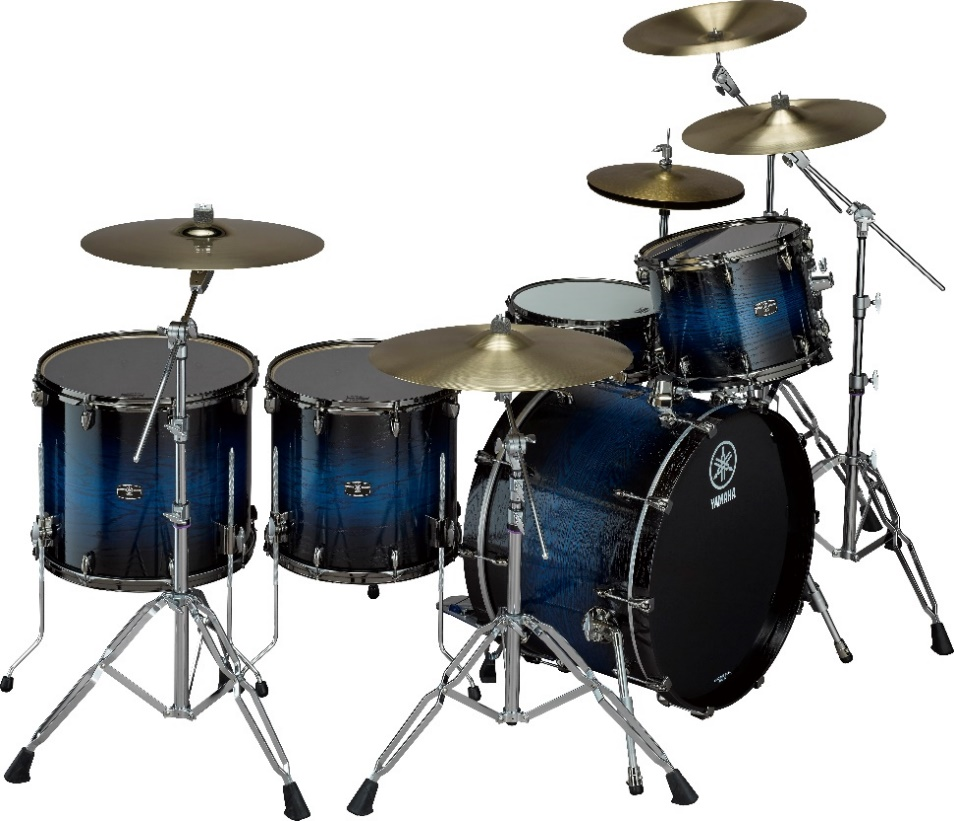 Drum kit with 5 drums and 5 symbols.