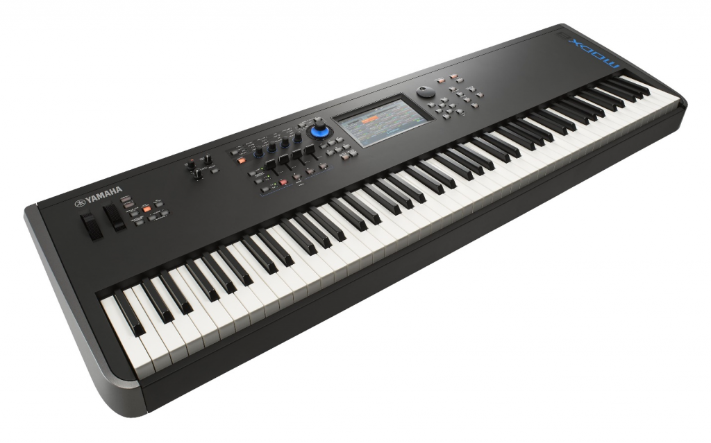 Electronic synthesizer keyboard.