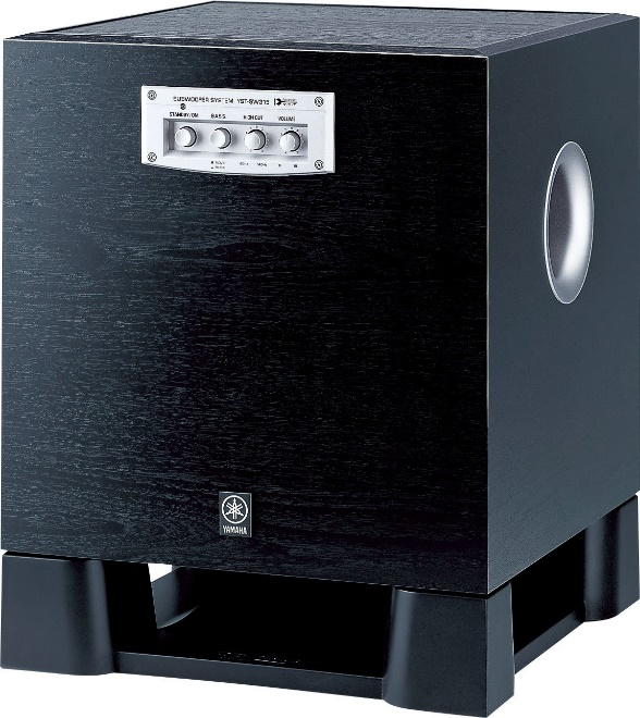 Front and side view of a black electronic box with dials on front.