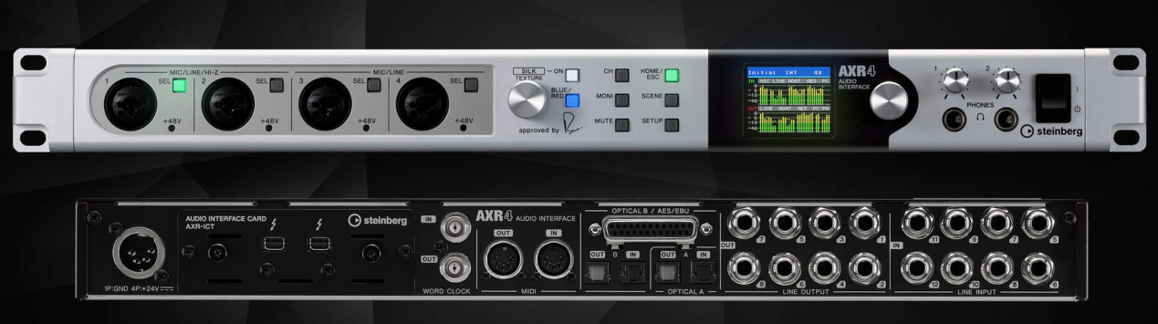 An image displaying the Steinberg AXR4 audio device.