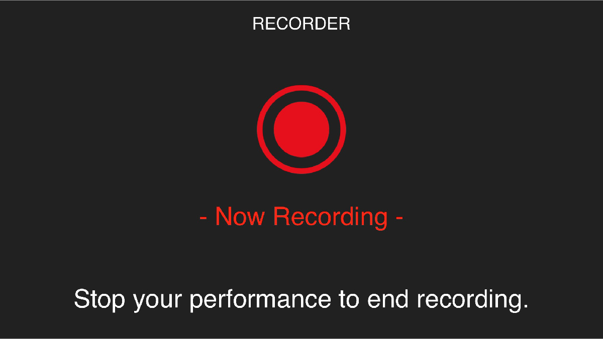An image of Recorder mode in an app.