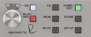An image of a portion of the front panel of the Steinberg AXR4T interface.