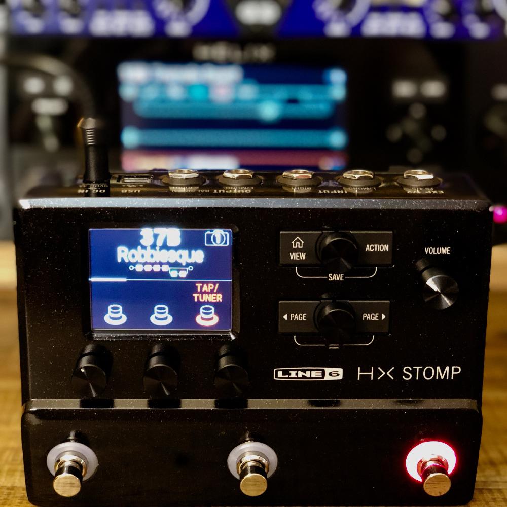 An image of a Line 6 HX stomp guitar processor.