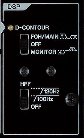 An image of a panel with two switches on it.
