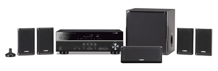 An image of various components of a hi-fi home theater system.