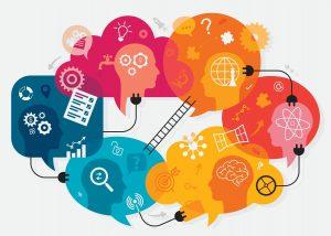 An abstract, colorful image metaphorically describing brain activity.