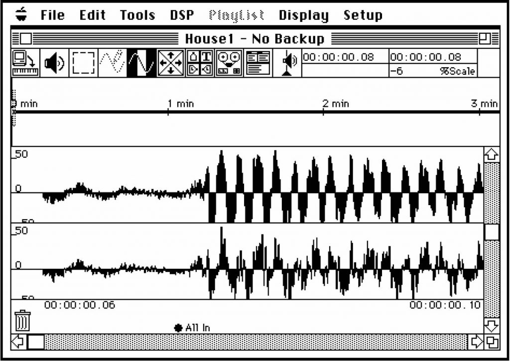 Screenshot of wave patterns.