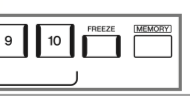 Diagram showing memory button on panel.