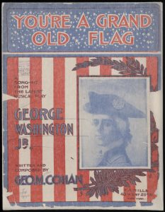 """Old sheet music for the song """"You're A Grand Old Flag"""""""