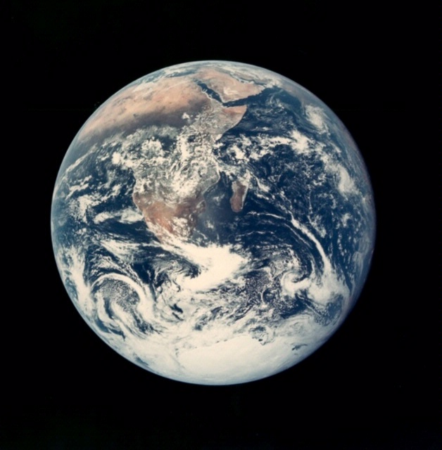 View of the earth from space.