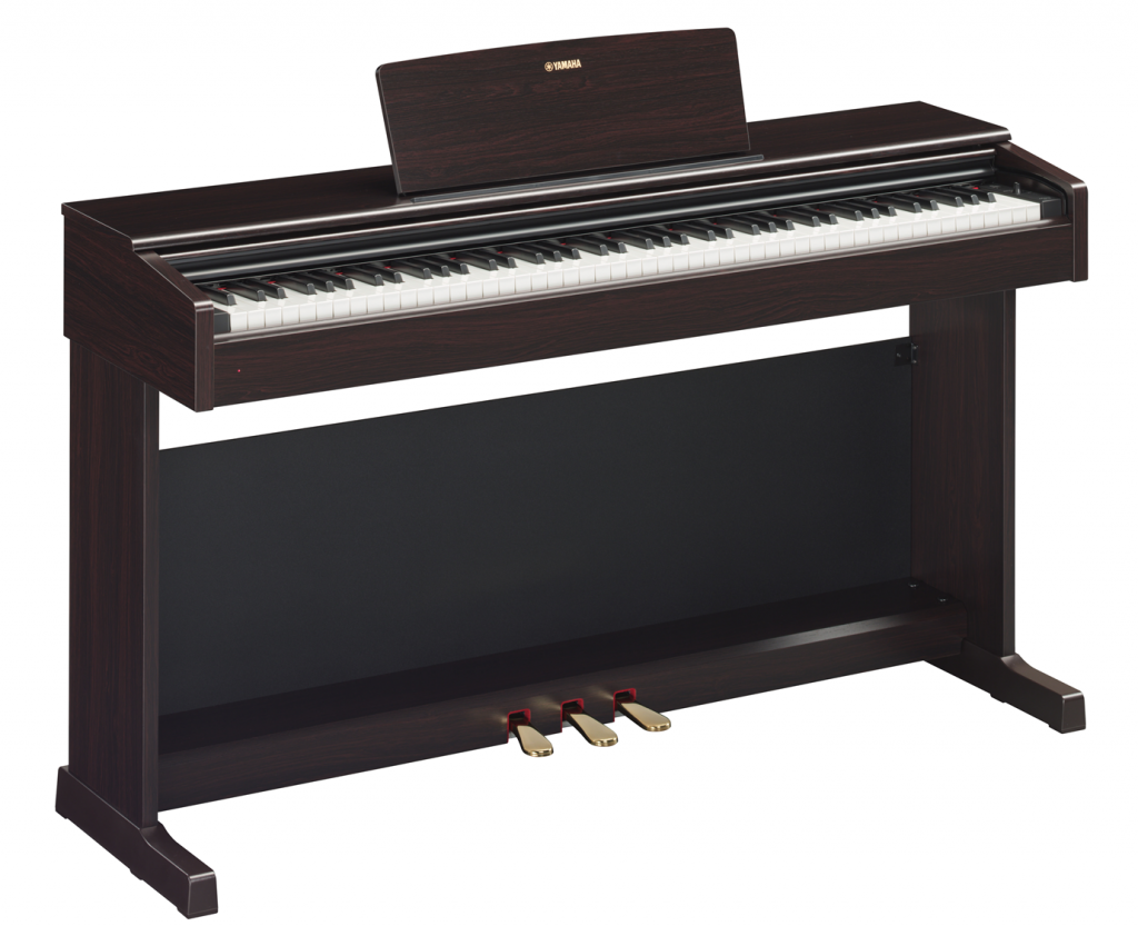 Electronic upright piano.