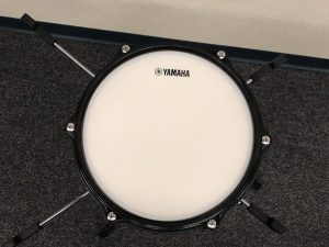 Drum in place viewed from above.