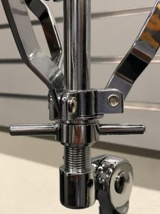 Intersection of the connections and levers for adjustment.