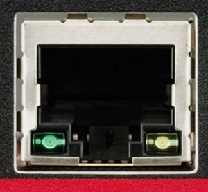 Closeup of rectangular input.