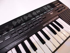 Closeup of electronic keyboard.