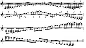 Eight bars of musical annotation.