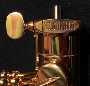 Close-up shot of saxaphone tenon screw.