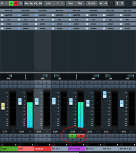 Screenshot of Automation Read and Write buttons for a track.