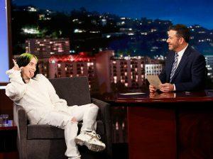 "Billie Eilish on ABC's ""Jimmy Kimmel Live."""