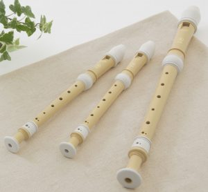 Plant-based plastic wind instruments/recorders.
