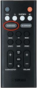 Sound bar remote controller.