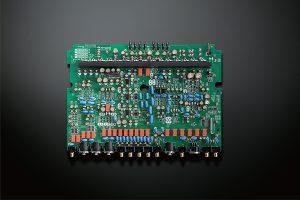 Square printed circuit board.
