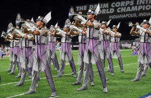 Carolina Crown marching band performs at the 2019 DCI World Championship.