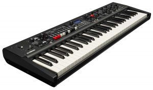 Black electronic keyboard.