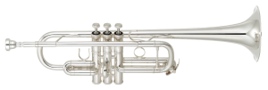 Silver trumpet.