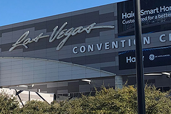 Outside of the Las Vegas Convention Center.