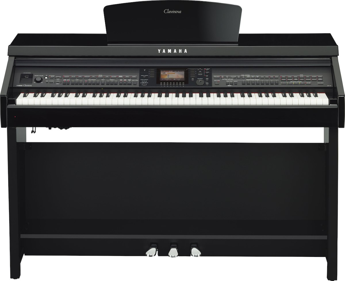 Large digital piano with LCD screen.