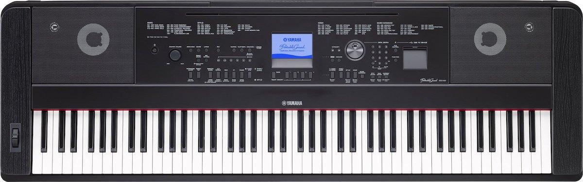 Large electronic keyboard.