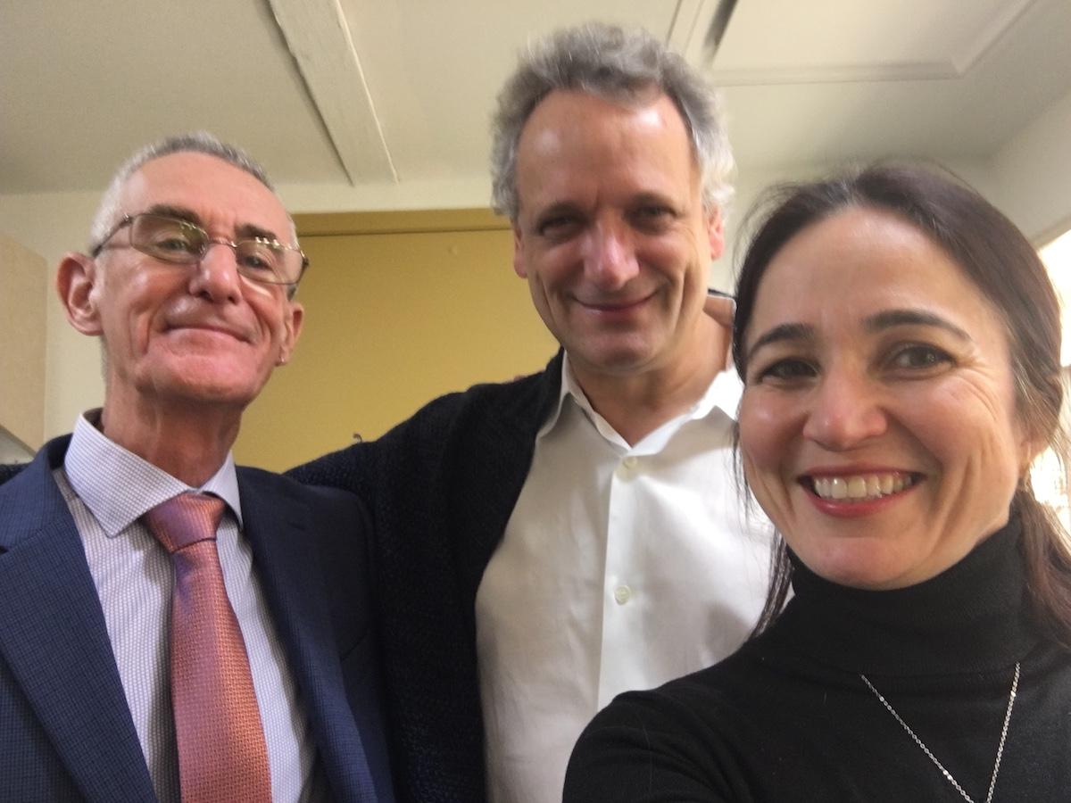 (L-R) Peter Phillips, Louis Langrée, and Dr. Stella Sick