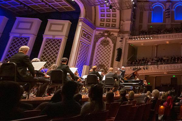 "Cincinnati Symphony Orchestra (CSO) performing ""Rhapsody in Blue."""