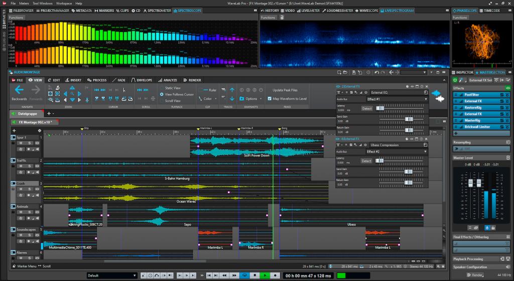 WaveLab 10 Audio Montage window.