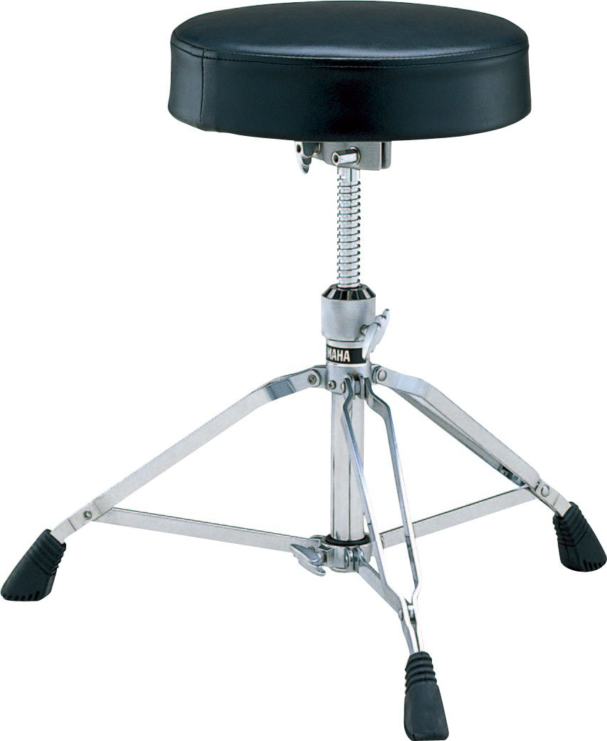 Small, round drum throne with threaded post for height adjustment.