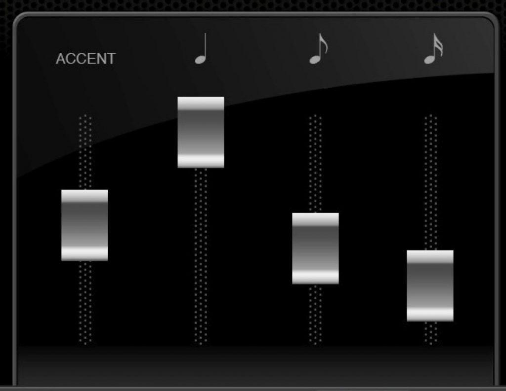 Screenshot of the Metronome app's built in mixer feature.